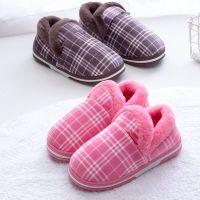 2018新款毛绒加厚棉拖鞋冬季情侣包跟棉鞋居家厚底保暖月子家居鞋