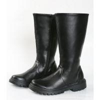 军乐队国旗班军官皮鞋靴黑色男女舞台表演长筒靴子仪仗队演出鞋子