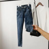 想要找开店批发厂家一手货源时尚牛仔裤高腰小脚裤工厂批发