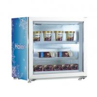 Haier/海尔冰淇淋柜SD-55 商用冷冻展示柜冰淇淋柜带灯箱 吧台小冰柜