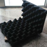 聚氨酯工业波浪吸音海绵 金字塔形状吸音海绵