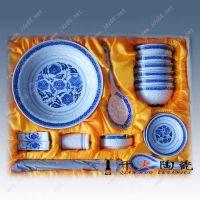 景德镇青花瓷餐具定做批发 酒店高档青花瓷餐具定制厂家