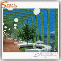 户外植物墙装饰 家居公司背景墙景观装修 大型仿真米兰草皮墙塑料