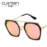 2018新款多边形大框太阳镜 欧美时尚不规则墨镜跨境潮流太阳眼镜