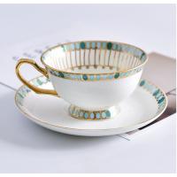 唐山瓷亿美 批发陶瓷咖啡杯套装 金柄骨瓷咖啡杯碟欧式下午茶杯碟礼品定制