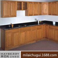 集丽整体橱柜定制  实木简约一字型L型转角厨房吊柜台组合定做