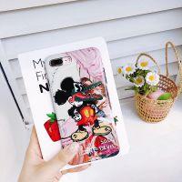 欧美卡通个性涂鸦iphone7p手机壳光面硅胶苹果X全包边防摔6s软壳8