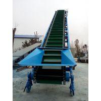 爬坡挡边输送机带防尘罩 有机肥料装卸输送机