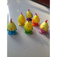 复活节装饰 彩蛋小鸡摆件 挂件过家家玩具 兔子蛋儿童diy手绘玩具
