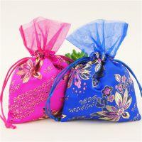 丝绸绣花佛珠核桃文玩束口袋中式婚庆喜糖袋首饰袋香包香囊空袋