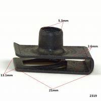 现货供应汽车东风6mm153中网铁片 长螺母铁片 塑料卡扣 快丝垫片