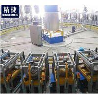 无锡聚氨酯发泡保温板鞍座发泡自动化生产线集成 发泡浇注自动化设备定制 机器人操作PLC编程