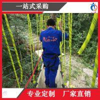 上海聚巧厂家定制大型丛林飞跃轨道飞车旋转溜索滑索挑战极限飞跃丛林溜索轨道