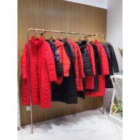 当季新款棉衣羽绒服哪里有广州女装品牌折扣批发走份市场