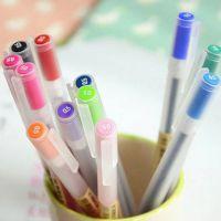 爱奇韩版文具 清新简单12色彩色中性笔 超顺滑多色水笔 学生批发
