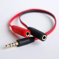 手机笔记本超极本耳麦二合一音频线转接头2合1单插头耳机转接线