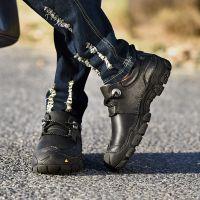 新款冬季男士休闲皮鞋 头层牛皮系带外贸皮鞋 韩版保暖皮鞋潮鞋男