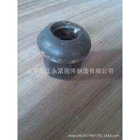 厂家供应M18-M24锚杆专用螺母 带垫法兰盘螺母 蘑菇头球头螺母