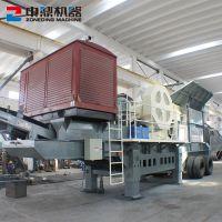 柴油矿山移动破碎站移动制砂机生产线方箱式移动破碎站厂家直销