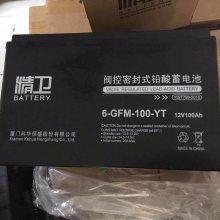科华精卫蓄电池6-GFM-100-YT原装正品