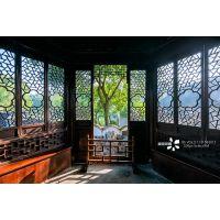 民俗式茶楼铝合金门窗设计