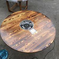 供应实木现代中式实木餐桌椅.实木休闲靠背扶手椅.酒吧餐饮火烧木桌椅
