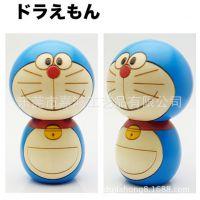 定做日本动漫哆啦A梦卡通玩偶 创意礼品京都人形 注塑搪胶PVC公仔