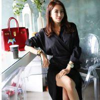艺素国际深圳尾货批发市场在哪里女装 品牌服装折扣加盟店尾货灰色大衣