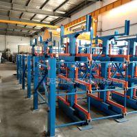 上海重型悬臂货架规格 伸缩式管材货架操作方法 钢材库仓储设备