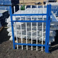 锌钢护栏@西安PVC塑钢护栏厂家@绿白喷塑围栏