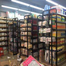 清远货架东莞市JB仓库货架铝合金糖果盒堆头柜收银台食品盒