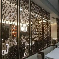 供应酒店不锈钢屏风装饰隔断 不锈钢花格定制厂家促销