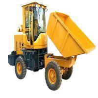 铁棚布棚大马力两驱四轮翻斗车 混泥土运输车 工程前卸式翻斗车