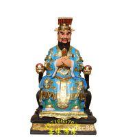 道教站龙王神像 家供风调雨顺保平安雨神佛像 优质树脂开光龙王神像摆件