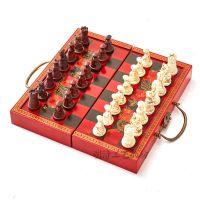 古典国际象棋中号兵马俑棋子立体象棋人物象棋配木制棋盘