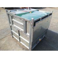 青岛安达铁吨箱、PE吨袋(1000L/1200L/1400/)用于运输液体、循环使用、节省成本
