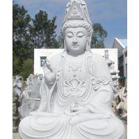泉州市观音石雕像景点 石雕坐像汉白玉观音 观音童子石雕图片大全定做厂家