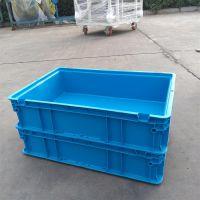 山西长治地区厂家直销科尔福KEF-EG3148蓝色HDPE塑料周转箱可堆式周转箱