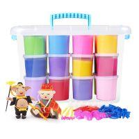 超轻粘土无毒橡皮泥儿童益智玩具厂家批发50克100克24色彩盒