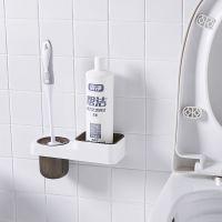 马桶刷无死角家用清洁去污二合一卫生间马桶刷子收纳架厕刷坐便刷