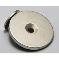 钕铁硼磁铁 打孔永磁材料 圆形单沉孔电表箱门吸铁石 柜门吸磁石