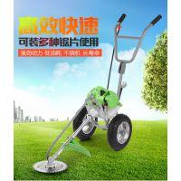 宇晨手推式草坪打草机 大面积草坪除草设备 两冲程汽油发动机割草机