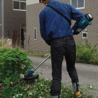makita牧田充电式割草机DUR182家用园林工具18V锂电剪草机 U型手柄4.0Ah【两电一充】