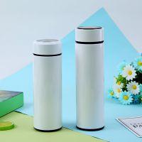 热转印保温杯印照片字水杯不锈钢平盖直身真空保温杯印LOGO广告杯