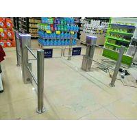 超市自动感应闸机 鸿顺盟供应HSM-BZ单向自动感应不锈钢立式智能摆闸