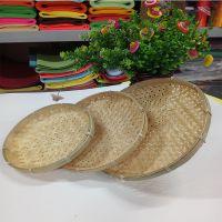 手工编织竹子半圆簸箕家用竹子品竹菜篮制竹产品 筲箕