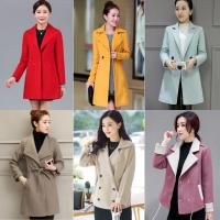 库存尾货冬装女新品韩版大码宽松中长款羊毛呢大衣妮子外套 微信代理