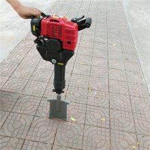 大棚埋桩大面积植树用挖树机 二冲程便携式植树挖坑机