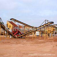 小型砂石破碎机生产线 颚式破碎机 制砂生产线 大型移动式破碎站