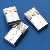 TYPE-C 3.1焊线式2.0公头 简易版8P焊线 注塑成型 白胶 USB C型公头